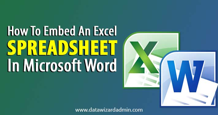 embed an excel spreadsheet in word